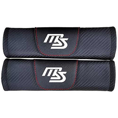 ZQXFZ 2pcs Almohadillas para CinturóN De Seguridad, para Mazda 2 3 5 6 CX3 CX5 CX7 CX9 MX3 MX5 RF MX6 RX7 Fibra De Carbono ProteccióN Hombros Confort Acolchado Protector Clip