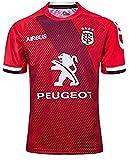 Jersey Rugby, 2019-2020 Toulouse Home/Away, Sports d'été Respirant T-Shirt Occasionnel T-Shirt Chemise de Football Polo, 2020, XL (Color : B, Size : L)