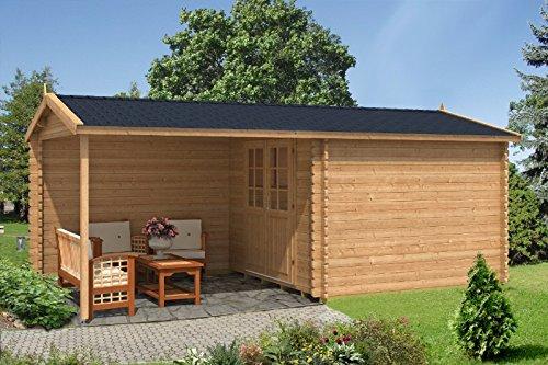Alpholz Gartenhaus 3x4m mit Flachdach MAX-44 ISO - Garten...