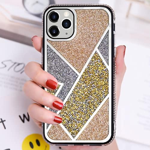 IRRIGATE - Custodia per iPhone con specchio elettrolitico e strass sul retro, colori a contrasto, diversi modelli di cover per iPhone 6G/6S, colore: Rosa