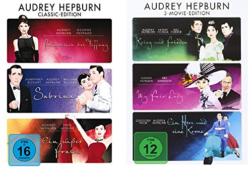 Audrey Hepburn - 6 Filme - Classic Movie Edition im Set - Deutsche Originalware [6 DVDs]