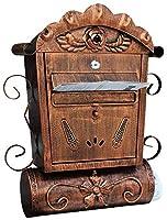 郵便受け ポスト 投書箱 防水蓋付き亜鉛メッキ鋼製の壁に取り付けられたロック可能なレターメールボックス