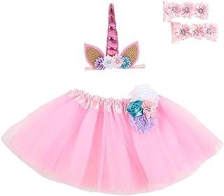 f857ebbcfde34 Zonfer Enfant en Bas âge Enfants Bébés Filles Vêtements Fête de Noël Tutu  avec Serre-