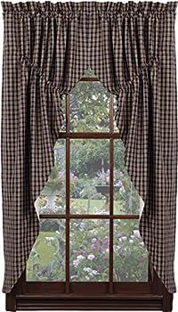 IHF Home Decor Cambridge Navy Design Prairie Curtain Window Treatments 100% Cotton 72  x 63
