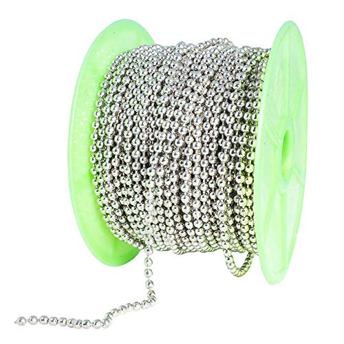 Ball Chain Spool #6 Nickel Plated Steel Bead Chain 3.2 Diameter 100 Feet (33 Yards) Included 30 Pc Matching connectors by Special100%