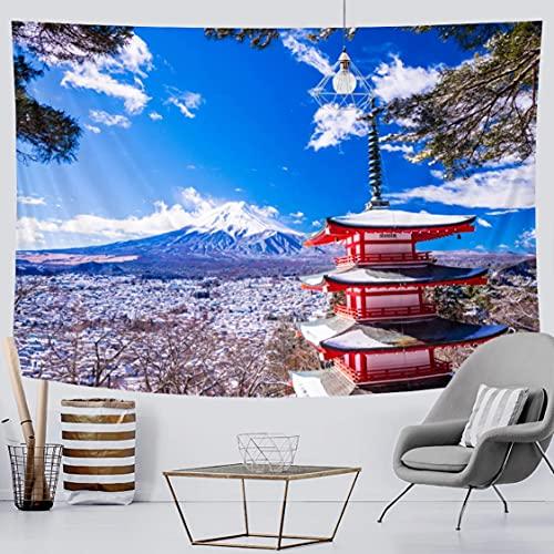 Danjiao Tapiz De Decoración del Hogar del Monte Fuji Japonés, Colchón De Viaje Decorativo Bohemio, Colchón De Yoga, Manta De Sofá Hippie, Colchoneta De Yoga Decor 150x130cm