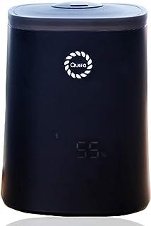 Qurra 加湿器 大容量 超音波式 アロマ 上から注水 4.5L 8畳 15時間 長時間稼働 お手入れ簡単 加湿設定 加湿量調節 リモコン タイマー ライト付き おしゃれ 静音 リビング オフィス 寝室 - MoisVinie ブラック