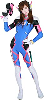 miccostumes Women's D.Va Hana Song Cosplay Costume with Tattoos