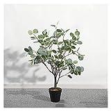 Planta Artificial 29.9' árbol de eucalipto artificial con Planta artificial Planter Negro for la fiesta de la boda decoración de vacaciones de Navidad Planta Falsa Decorativas ( Color : Green leaf )