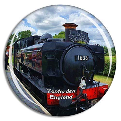 Weekino Tenterden Kent & East Sussex Railway UK England Fridge Magnet Travel Gift Souvenir Collection 3D Crystal Glass Sticker
