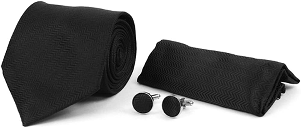 Men's Hipster 3 PC Paisley Floral Tie Necktie, Pocket Square & Matching Cufflinks Set