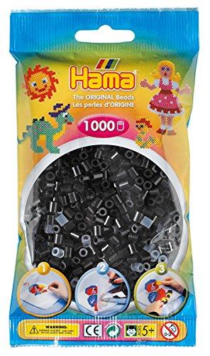 Hama 207-18 - Perle, 1000 Pezzi, Colore: Nero
