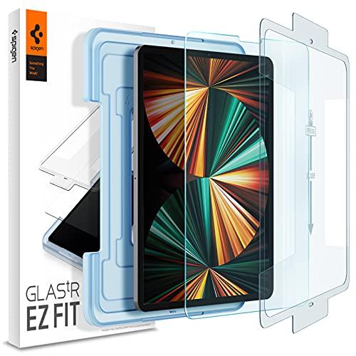 Spigen EZ Fit Protector Pantalla para iPad Pro 12.9 Pulgadas 2021, 2020, 2018-1 Unidad