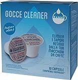 Gocce Caffè - Paquete de 10 cápsulas Cleaner compatibles con Nespresso.