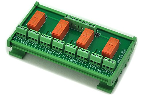 ELECTRONICS-SALON DIN montaje en riel de pasivas matemáticas / óxido 4 DPDT 8 A un de módulo de relé, 5 V ver.
