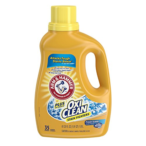 Arm & Hammer Plus Oxiclean Liquid Laundry Detergent, Fresh Scent, 61.25 Ounce (Pack Of 3)