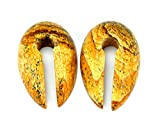 Pair of Small Keyhole Stone Ear Weights (1/2