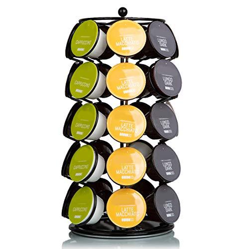 Capsule Houder Voor Dolce Gusto Cups - Koffie Houder en Standaard - 360º Draaibaar - 35 Capsules - Zwart