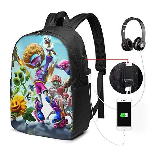 Plants vs Zombies portátil Bapa- con puerto de carga USB/elegante bapas casual impermeable se adapta a la mayoría de portátiles y tabletas