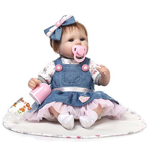 ZIYIUI 18 Pollici 45 Centimetri Bambole Reborn Baby in Silicone Morbido Bambina Bambola Reborn Femmine Femmina Bambole Reborn Toddler Doll Lifelike Newborn dollcorpo Morbido Silicone