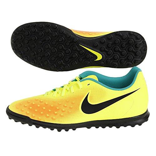 Nike Magistax Ola II TF, Scarpe da Calcio Uomo, Giallo, Verde, Nero, Arancione, Verde, Volt, Nero, Arancione, Giada Trasparente, 41 EU
