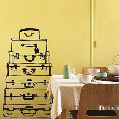 Muursticker gepersonaliseerde doos retro stijl behang muursticker sticker sticker muurschildering voor slaapkamer wonen kinderen kamer 80 * 140 cm