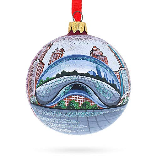 BestPysanky The Bean, Chicago, Illinois Glass Ball Christmas Ornament