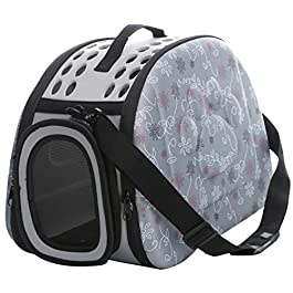 JEELINBORE Pet Travel Carrier, Soft Comfort EVA Portable Foldable Pet Bag Airline Approved Travel Tote for Dogs Cat and other Pets