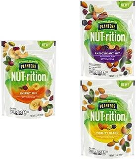 NUTrition Energy Mix (5.5 oz Bag) with Mix Nuts Bag (5.5 oz Bag) and  Vitality Blend Bag (5.5 oz Bag)