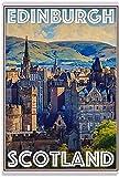 REGF Póster Impresiones 60x90cm Sin Marco Póster de Estilo Vintage, póster de Edimburgo, Escocia, Carteles Decorativos para Sala de Estar, Pintura para Dormitorio