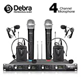 Debra Audio D-140 UHF 4 Channel Wireless Microphone System Metal Receiver With 2