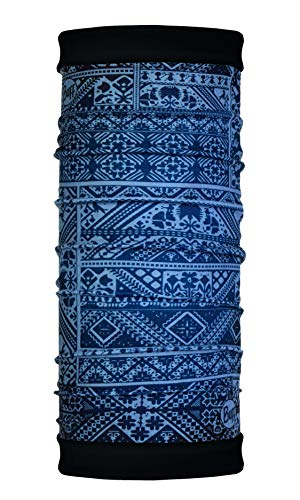 Buff Eskor Tour de Cou Reversible Polaire, Mixte Adulte Bleu (Dark Mix), Taille unique
