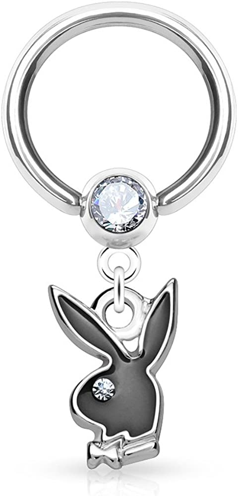 Dynamique Playboy Enamel Bunny Dangle 3 Set Captive Ball Crystal Max 52% Courier shipping free shipping OFF