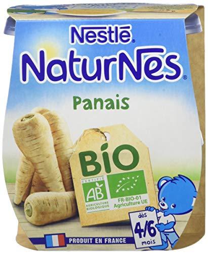 NESTLE NATURNES BIO Petits Pots Bébé Panais - Dès 4/6 mois - 2x130g - Pack de 12 (24 Pots)