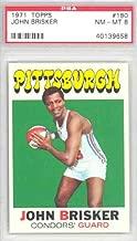 1971 Topps Basketball 180 John Brisker PSA 8