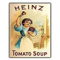 Heinz Tomato Soup 注意看板メタル安全標識注意マー表示パネル金属板のブリキ看板情報サイントイレ公共場所駐車ペット誕生日新年クリスマスパーティーギフト