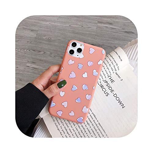 Funda linda del teléfono de la margarita de la historieta para el iPhone 12 11 Pro X XR XS Max 6 6s 7 8 Plus SE 2020 suave flor de amor corazón fundas cubierta T2-para el iPhone 12