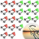 Alarma De Señuelo De Pesca 20 Pcs Campana De Alarma Caña Pescar Alarma De Picaduras Caña Pescar Alarma De Campana De Pescado Aparejos De Pesca Campana para Pesca En El Mar Verde Rojo
