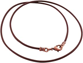 DragonWeave Antique Copper 1.8mm Fine Brown Leather Cord Necklace