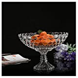 kiki Cesto Portafrutta Europea Trasparente Fruit Basket Cristallo Fruttiera Creativo Frutta Pot Soggiorno Cucina Cestino di immagazzinaggio Fruttiera (Dimensione : 29cm)