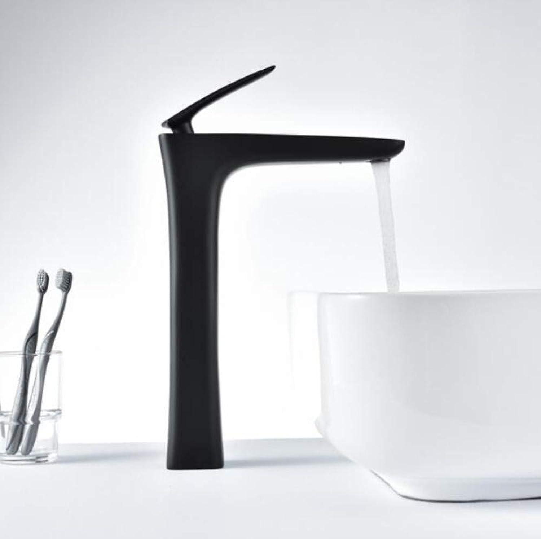 Bathroom Faucet High Faucet Modern Brass Mixer Basin Sink Water Taps Elegant Design Sink Tap Torneira High Tube Bath Faucet Mixer