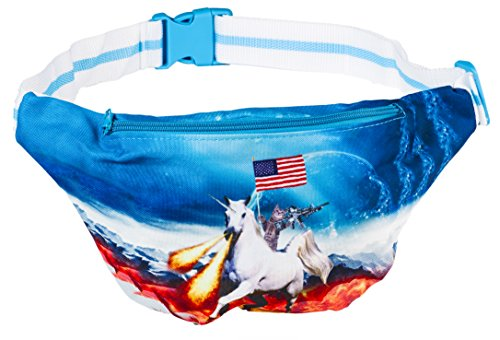 Funny Guy Mugs Space Cat Fanny Pack - Unicorn