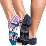 Pointe Studio Ballet Dance Socks [2 pack, M/L, Black and Teal]