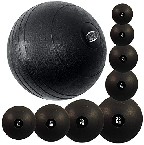 BAY® Slamball Medizinball Medizinbälle Gewichtsball Fitnessball Trainingsball Vollball Krafttraining Slam Ball Gummi Sand Sandfüllung (2 Kilo)