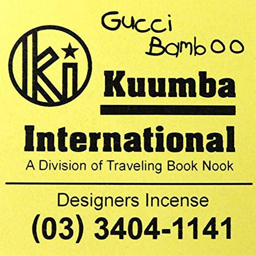学んだ熟達したマーティフィールディングKUUMBA (クンバ)『incense』(GUCCI BAMBOO) (GUCCI BAMBOO, Regular size)