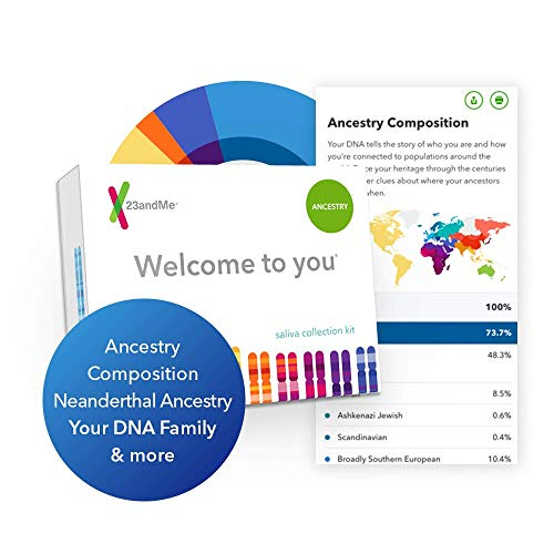 23andMe DNA Test - Ancestry Personal Genetic Service - includes 150+ Ancestral Regions, DNA Relative Finder (Opt-in) & More