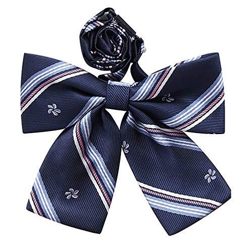 KESYOO Fliege im Japanischen Stil Kirschblüte Gedruckt Jk Lässig Cosplay Krawatte Cosplay Kostüm Requisiten für Bühne Cosplay Party Uniform (Fliege)