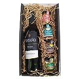 Cesta Gourmet Deliex con Vino Rioja Antaño de 37,5 cl, 2 patés de Lomo...