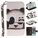 iPhone 5S Case,iPhone SE 2016 Case,Gift_Source [Kickstand] [Card Slots] Premium PU Leather Wallet Folio Flip Case Stand Cover Magnetic Closure & Wrist Strap for iPhone SE 2016/iPhone 5/5s 4.0' [Panda]
