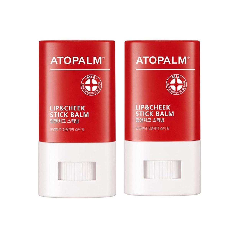 座標扇動する静かにアトパムリップ&チークスティックbalm12g x2本セット、Atopalm Lip&Cheek Stick Balm 12g x 2ea Set [並行輸入品]